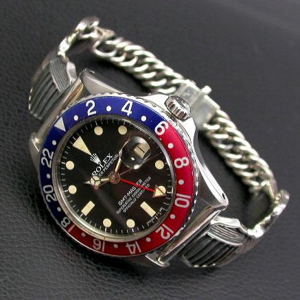 シルバー925ブレスレット ミリタリーウイングベルト 腕時計用(20mm)