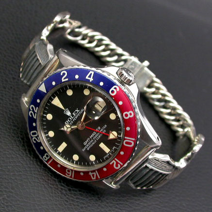 シルバー925ブレスレット ミリタリーウイングベルト 腕時計用(18mm)