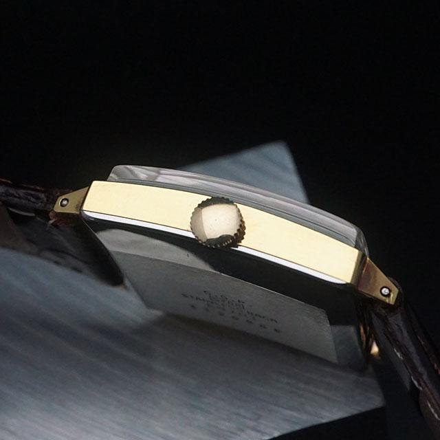 シチズン エクセル 角型 シルバーダイアル パラショック C.G.Pケース 美品
