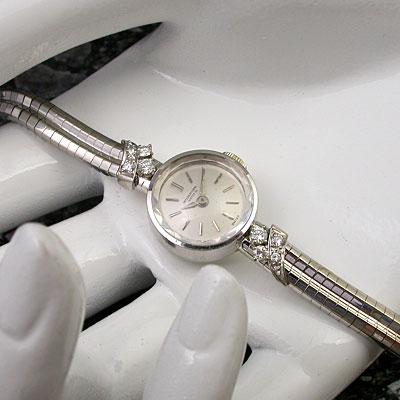 IWC ダイヤ装飾 18KWG レディース アンティークウオッチ