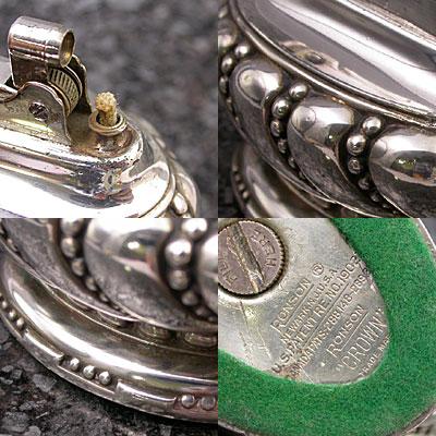 ロンソン 銀製 テーブルライター クラウン