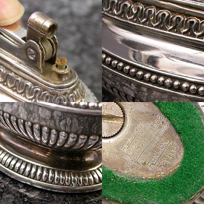 ロンソン 銀製 テーブルライター クイーン・アン