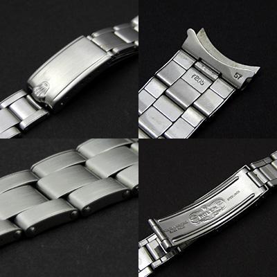 ロレックス 3連 リベットブレス 19mm フルコマ