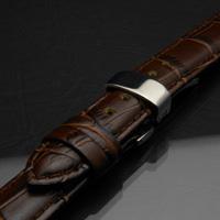 腕時計用 革ベルト 18mm Dバックル仕様 ブラウン