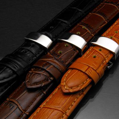 腕時計用 革ベルト 18mm Dバックル仕様 キャメル