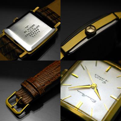 タカノ プレシジョン スーパー 角形 19石 金色ケース アンティークウオッチ