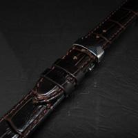腕時計用 革ベルト 18mm Dバックル仕様 ダークブラウン