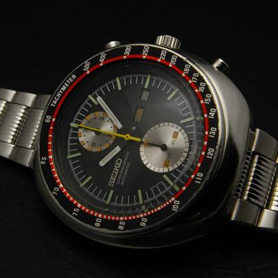セイコー ビッグダブルクロノ スピードタイマー クロノグラフ 赤黒 アンティークウオッチ