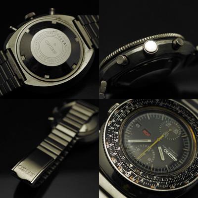 セイコー 計算尺 クロノグラフ Ref.6138-7000 ブレスレット仕様 アンティークウオッチ