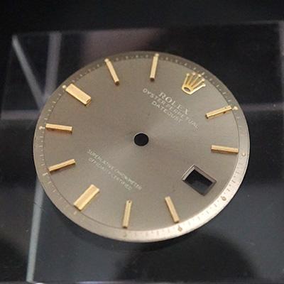 ロレックス オイスターパーペチュアル デイトジャスト アッシュゴールド文字盤 針セット