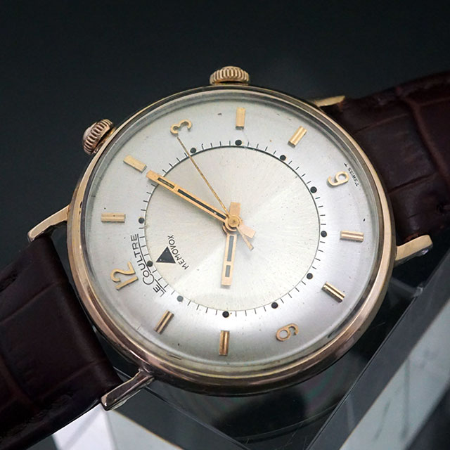 ルクルト メモボックス アラーム時計 手巻き 10KGF アンティークウオッチ